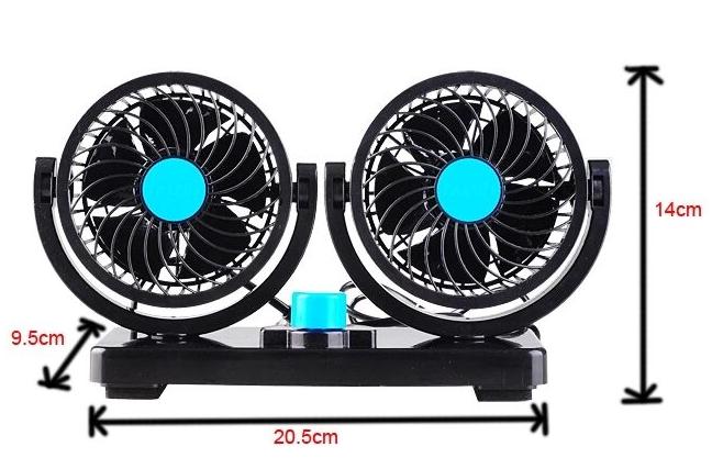 Un ventilateur 12V24v camionnettes double force la tête de mini - ventilateur électrique de réfrigération pour automobile