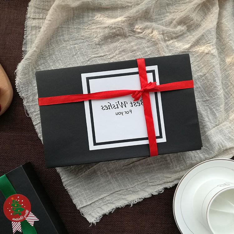 Noir Nougat de boîte d'emballage cadeau de haute qualité des biscuits boîte 6 grain 80 G 100g de jaune d'oeuf de pâtisserie gâteau de la boîte d'emballage
