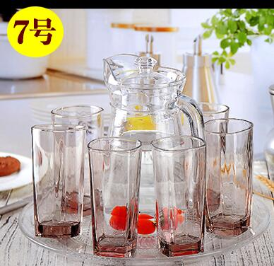Household high temperature glass tea water cup 6 suit with the hand of the living room European style simple personality creative water glass glass glass