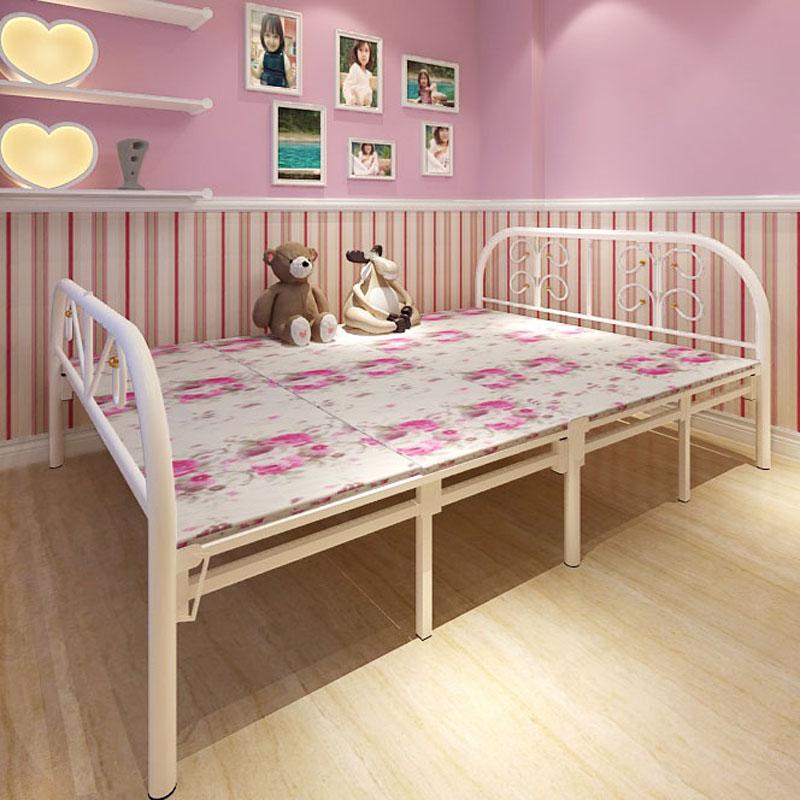 접이식 침대 시트 사람 널침대 사무실 점심 침대 보강 네 접침상 1.2 쌀 1.5 米易 더블 침대