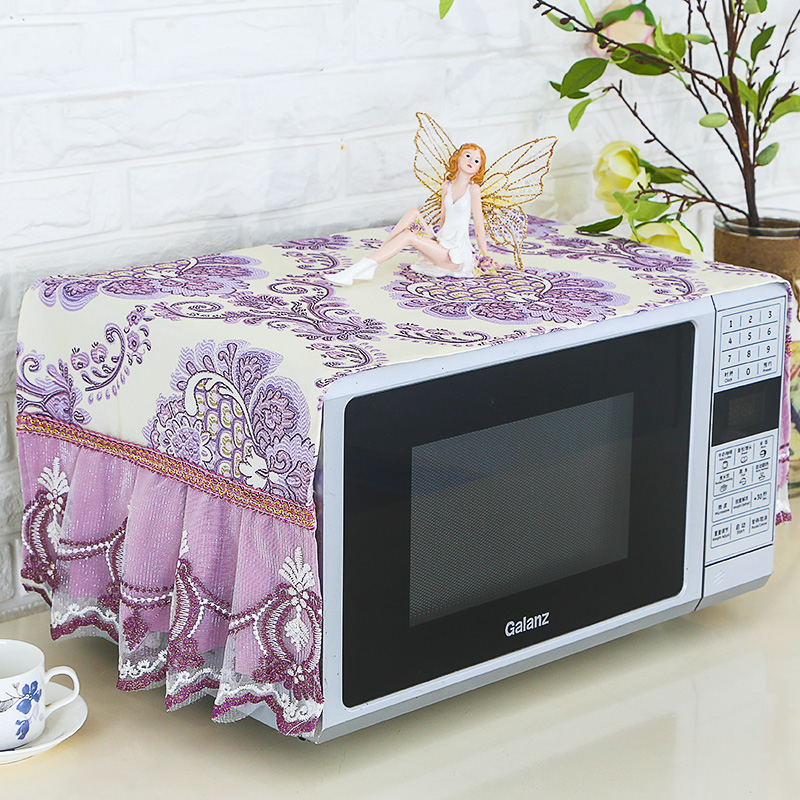 Galanz microwave oven cloth cover beautiful lace cap new summer rectangular oven oil proof dustproof curtain