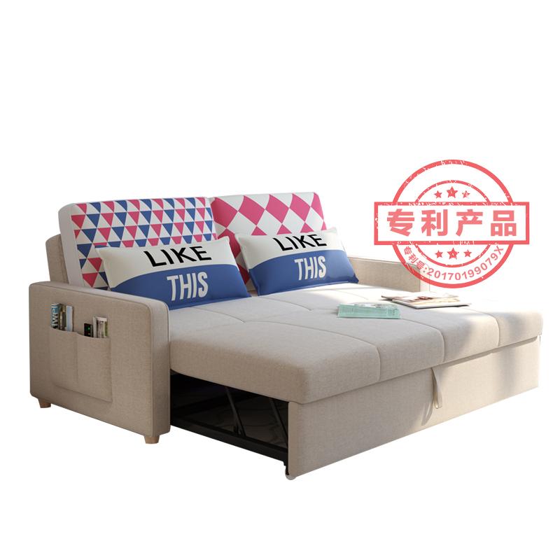 Τον καναπέ - κρεβάτι πτυσσόμενου σαλόνι διπλό μικρό διαμέρισμα πολυλειτουργική 1.2 διπλής χρήσης - καναπέ 2 μέτρα ύφασμα 1,8 1,5