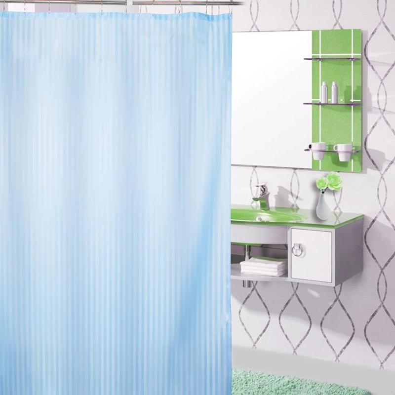 Cortina divisória de banheiro impermeável cor sólida espessamento especial - Hotel banheiro pendurado Cortina Cortina Cortina de chuveiro