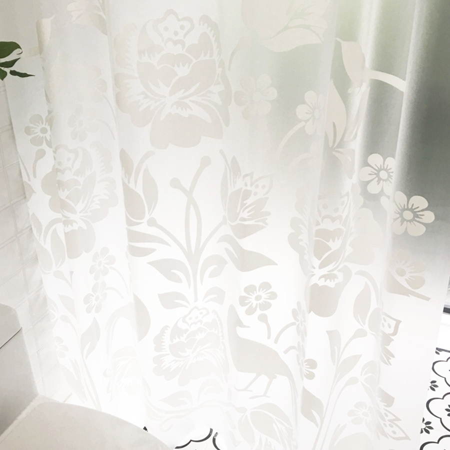 Phòng tắm trong phòng vệ sinh không thấm nước ngăn cách rèm tắm trắng dày của Trung Quốc cắt giấy treo rèm mành rèm cửa rèm tắm