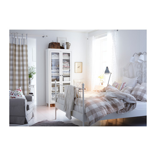 Domestic purchasing IKEA Home Furnishing Lyle Vic bedstead children bed double bed double bed European white steel