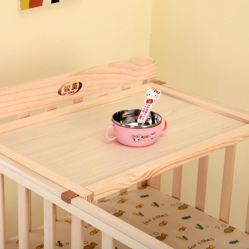 多機能bbベビーベッド材の新生児の男女子供赤ちゃん無漆折りたたみベッドステッチを振ってベッド