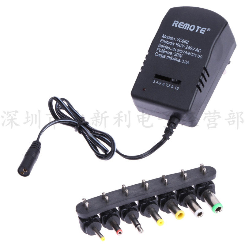 30W adjustable transformer universal DC switching power adapter 3V-12V adjustable power supply with 6 connectors