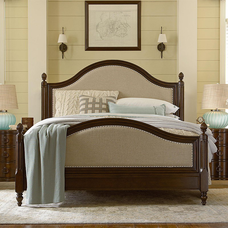Solid wood bed bed double bed 1.8 simple European American Mediterranean Nordic style bed Jane beauty of modern master bedroom furniture