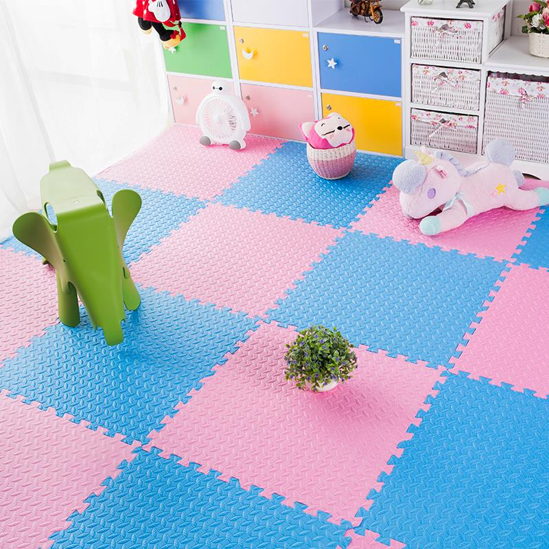 Foam pad thickening household baby sleeping children bedroom tatami crawling pad puzzle with enclosure non-toxic