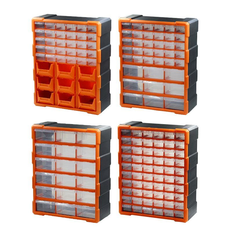 Parts box drawer type plastic tool box assembled lattice box compartmented box element box cabinet Lego storage box