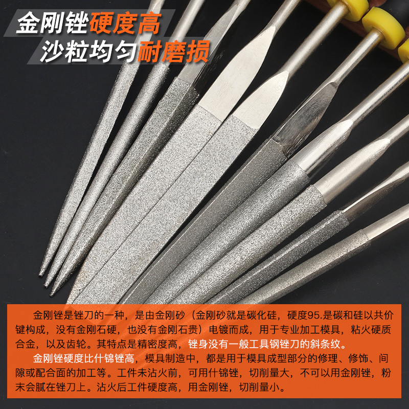 Carbide Wu Gang grinding head C-type cylindrical ball end mill wood metal tungsten steel rotary file 6mm handle