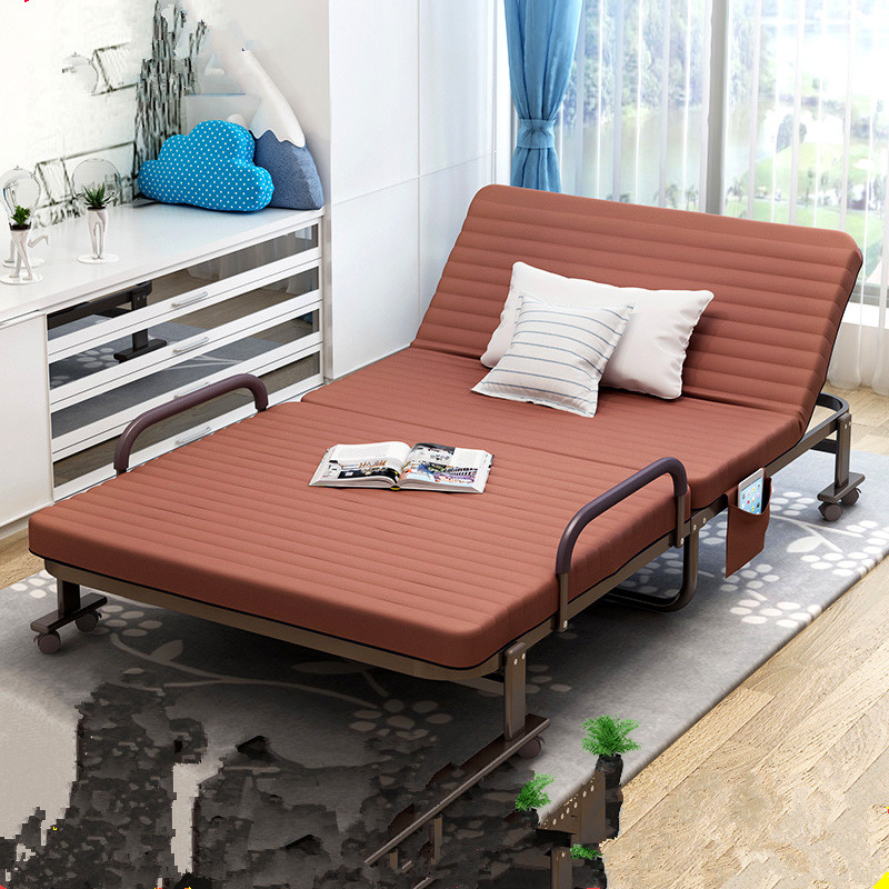 Single bed bed reinforcement widening formwork bed hotel adult portable air cushion bed single bed folding bed at noon