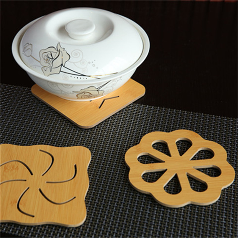 Hot pot dish glass kettle hollow circular mat heat insulation pad pad pad cup electromagnetic stove hot cork