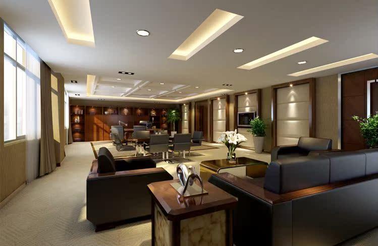 现代美式乡村家装设计客厅复式别墅装修效果图 无锡