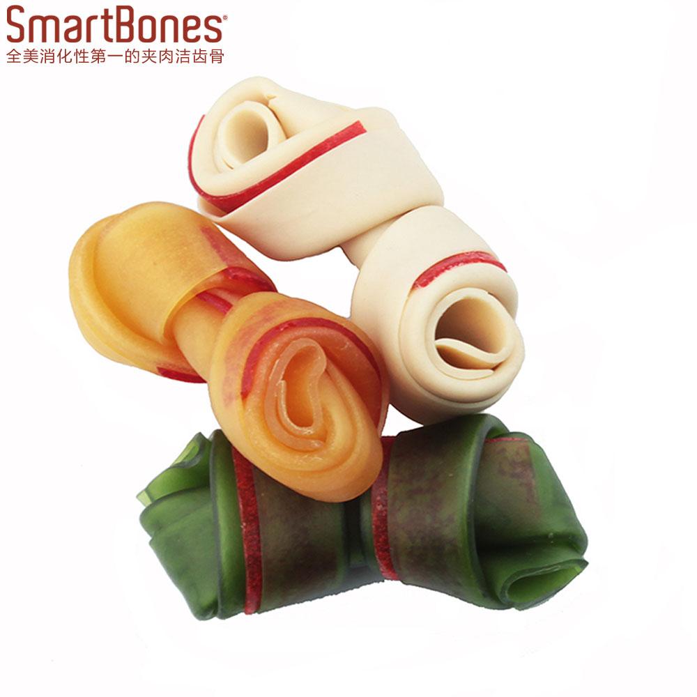 usa 洁齿 kosti SmartBones žvýkacích pamlsků pro zvířata, když pes občerstvení kuře burákové máslo 健齿 16g/ kusů