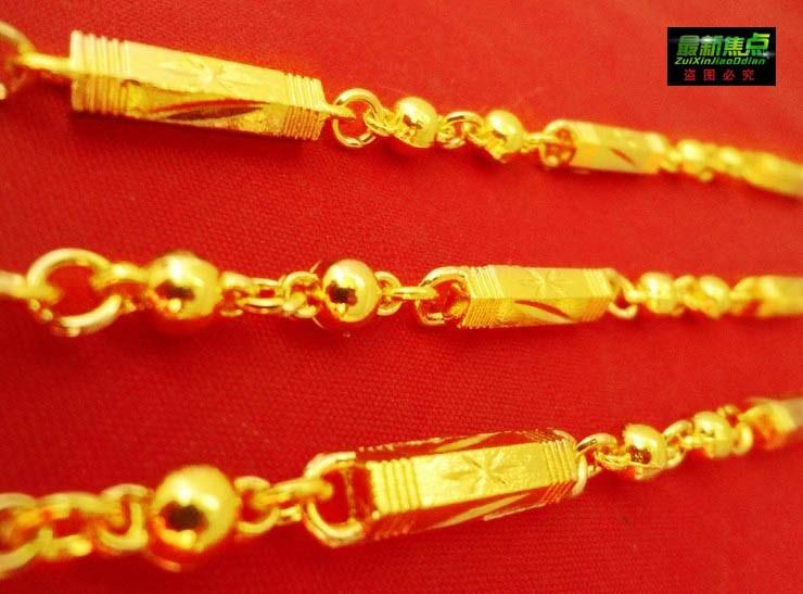 MIT 24 Goldene kette, die in Vietnam Männer Gold shakin pseudo - Daikin kette Dominant GroB mode - Wolf - 2 - anhänger