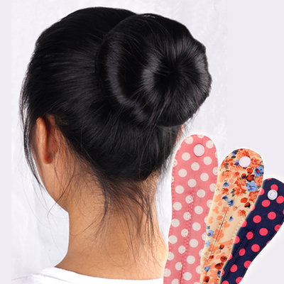Korean energy-saving button cloth sponge ball head buckle floral bud headband dot sponge hair stick