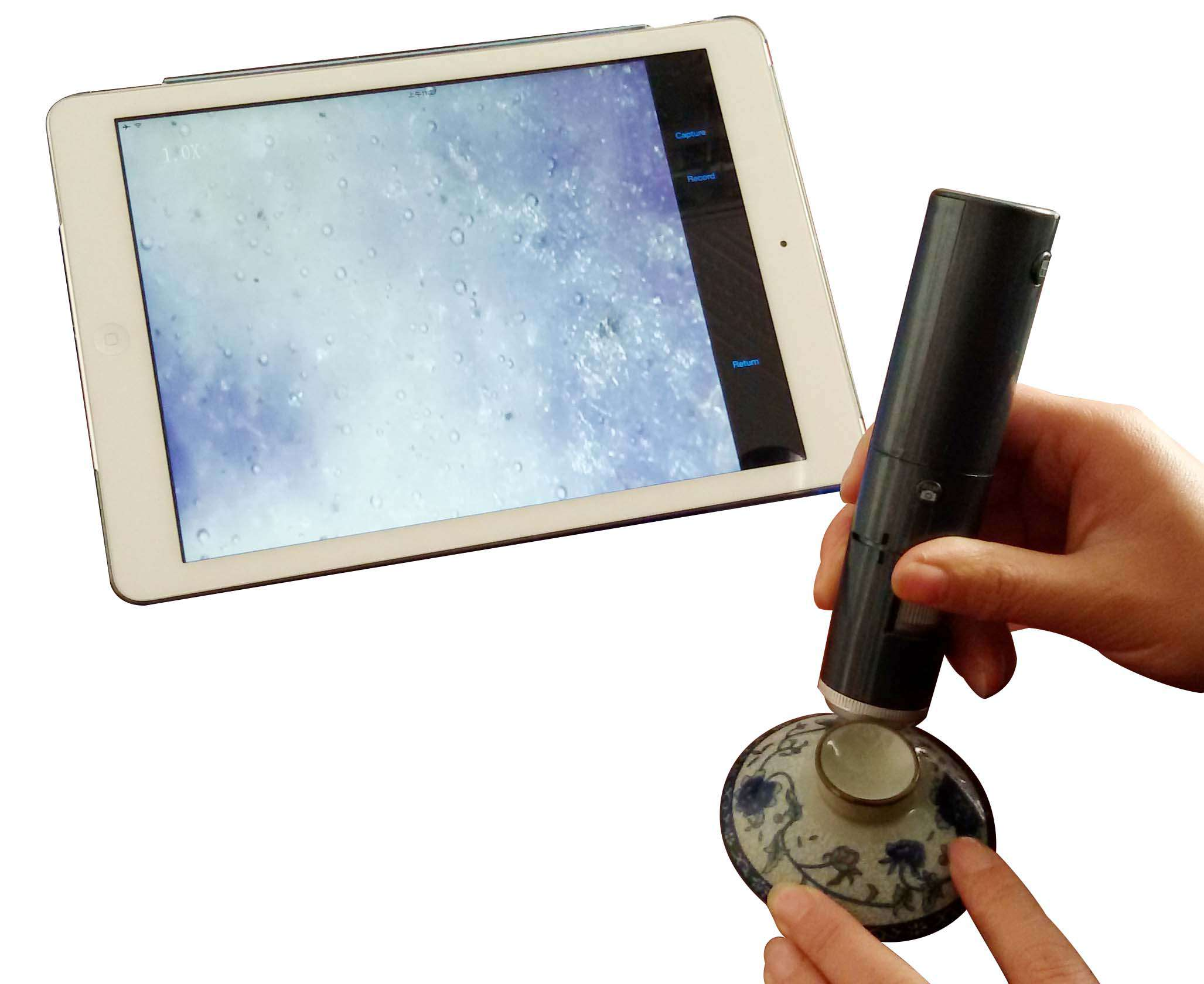 Mini 600 times antique jewelry identification magnifying glass portable porcelain bubble detector microscope multi-function