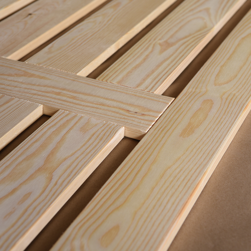 Imported pine wood bed frame bed permeability 1.5/1.8 18/23MM thick plate double bed dipropionate