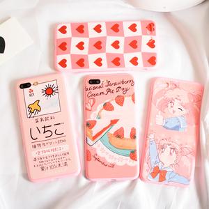 苹果8手机壳iPhone7抖音网红日系少女心6splus可爱萌粉嫩X动漫套