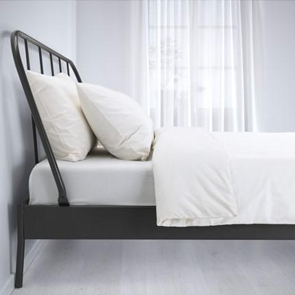 UN letto di ferro caldo letto 科帕达 Ikea semplice letto Matrimoniale di ferro re di Stile europeo.