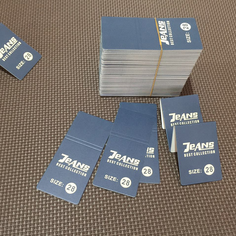 General merchandise jeans, waist card clothing, waist card tag can be customized