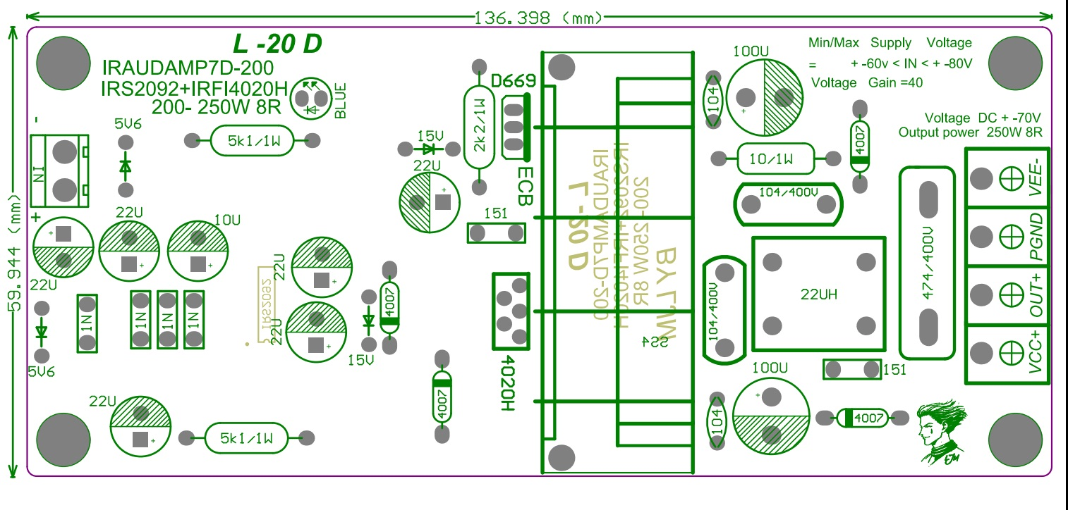 L20d 300w Class D Irs2092 Irfi4020 Power Amplifier Completed Hi Fi Preamplifier A With Bc550 Board By Ljm In From Consumer Electronics On Alibaba Group