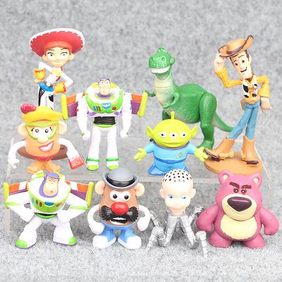玩具总动员 胡迪 巴斯光年 一套10款人偶手办公仔模型摆件玩具