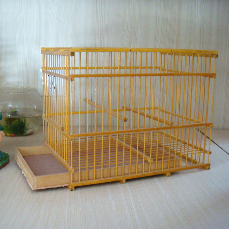 Guizhou large wooden bamboo cage thrush myna bird cage bird cage boutique Sichuan white eye accessories