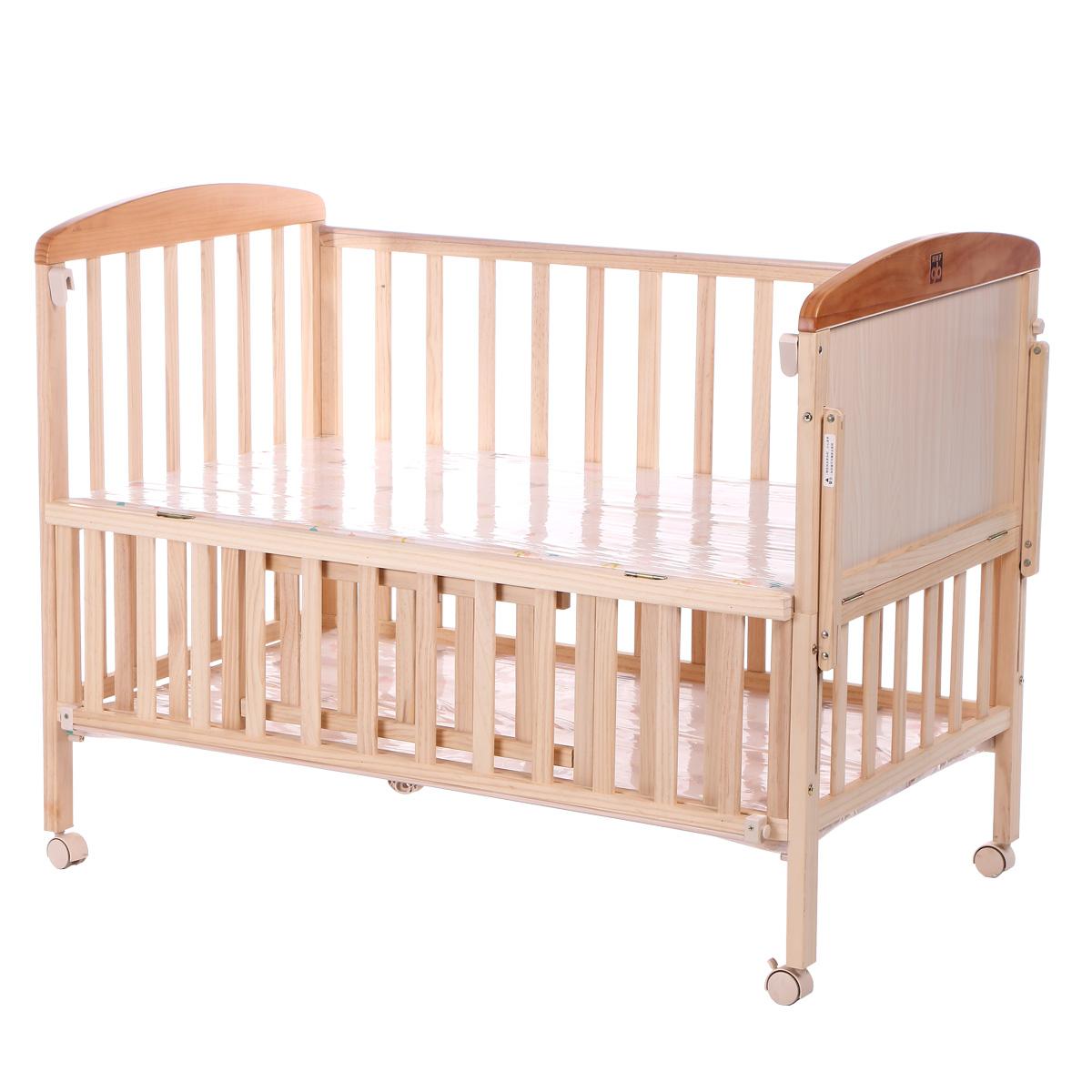 GB καλά παιδιά μωρό κρεβάτι ξύλο χωρίς μπογιά το μωρό το λίκνο της πολυλειτουργικής τα παιδιά τα στείλω στο κρεβάτι MC283 κουνουπιέρες