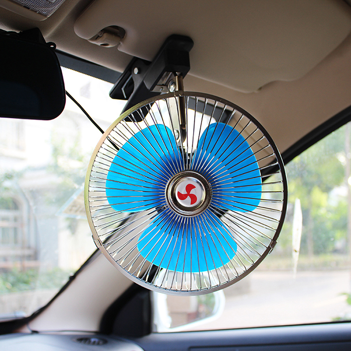 New car electric fan, big truck minivan, 10 inch, 12 volt 24V large wind power refrigeration vehicle