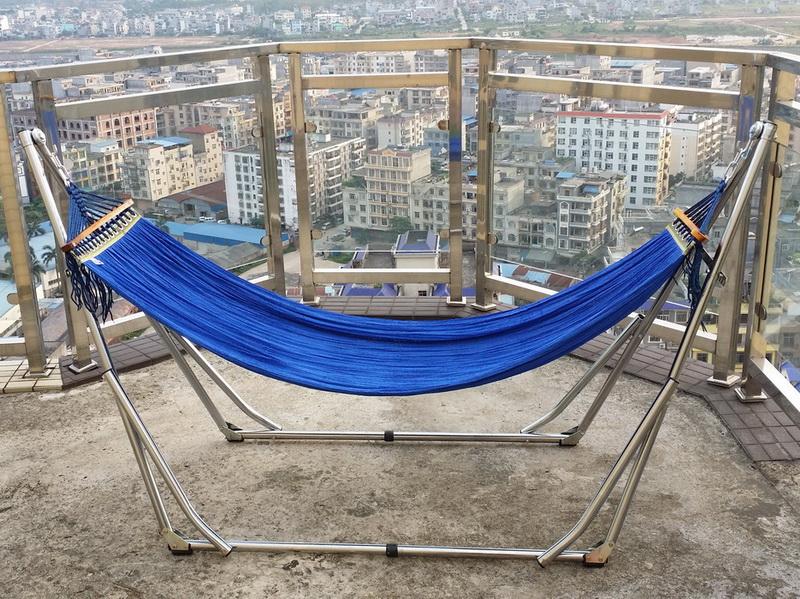 Die post Vietnam weißen eisenrahmen hängematte single - Indoor - und Outdoor - home - Bett MIT unterstützung
