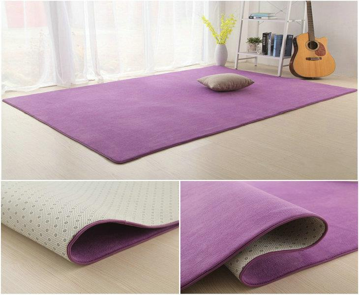 Coral velvet thick carpet in the living room carpet carpet table bedroom bedside tatami mats blankets can be customized