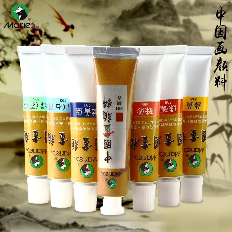 Marca il dipinto cinese per 12 strumenti di calligrafia cinese rivestiti di inchiostro di Colore - Colore 24
