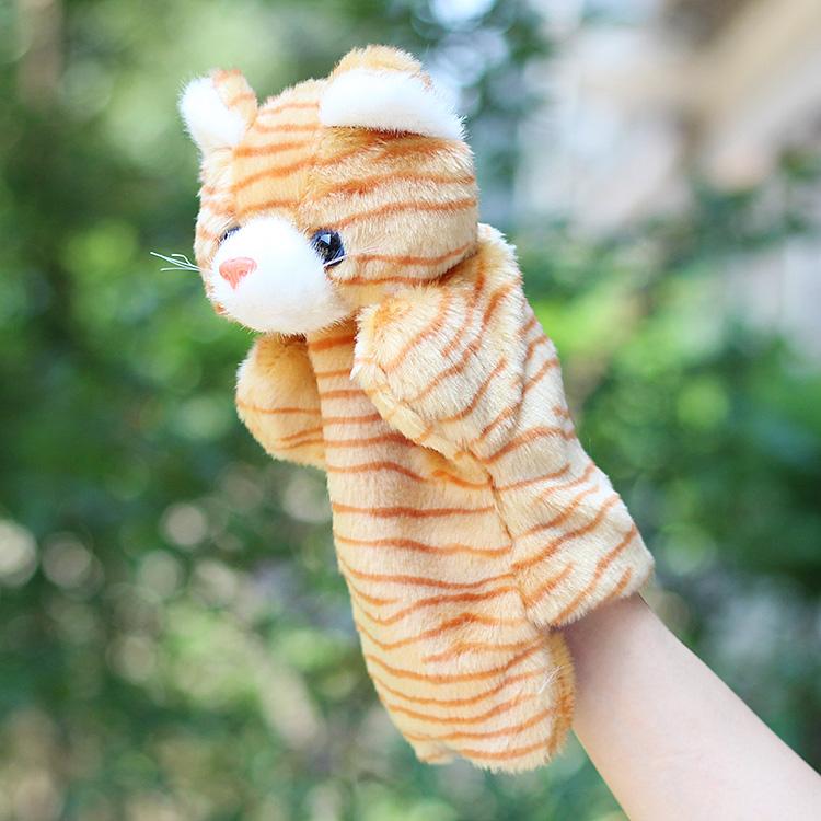 Ακόμα και τα ζώα στο χέρι το νέο μεγάλο ωραίο παιχνίδι παιδιά στην αρχή τη γάτα και το ποντίκι να γάντια για μωρά κούκλες