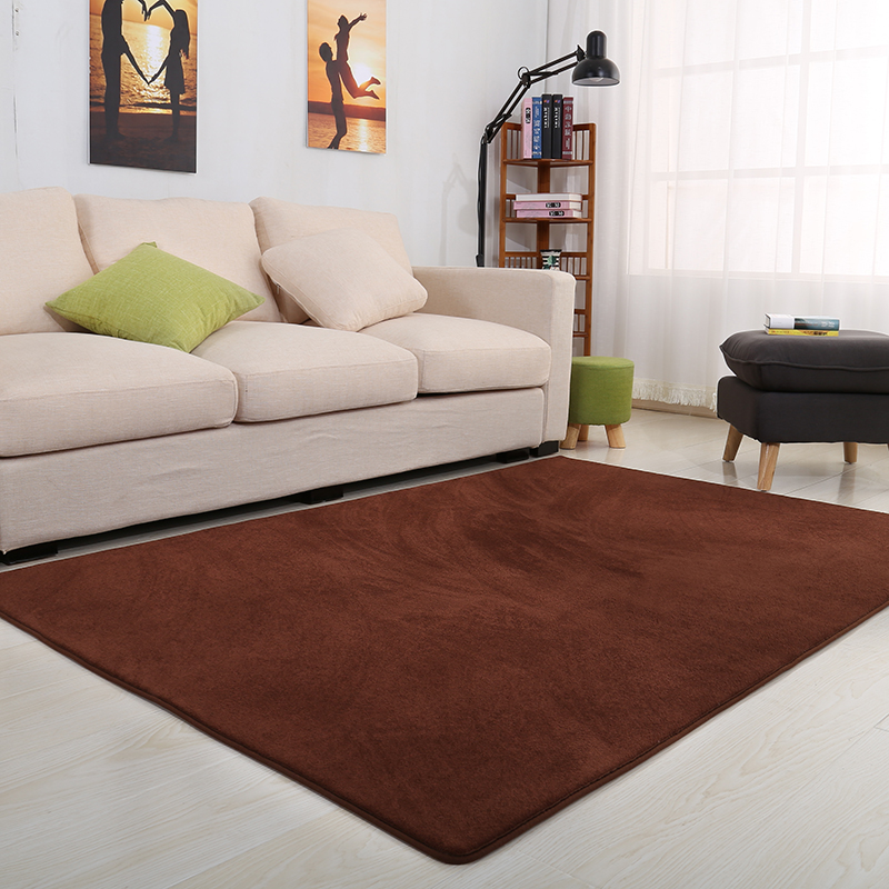 Grey carpet household table thick rectangular living room simple European style tatami mats.