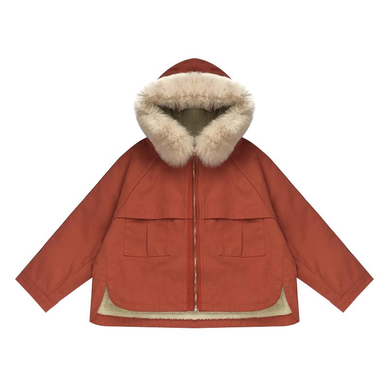 2017. 棉衣 bő téli kabátot rövid 韩版 bárány mao mao vezetett a szél) jelöl 棉袄 akadémia
