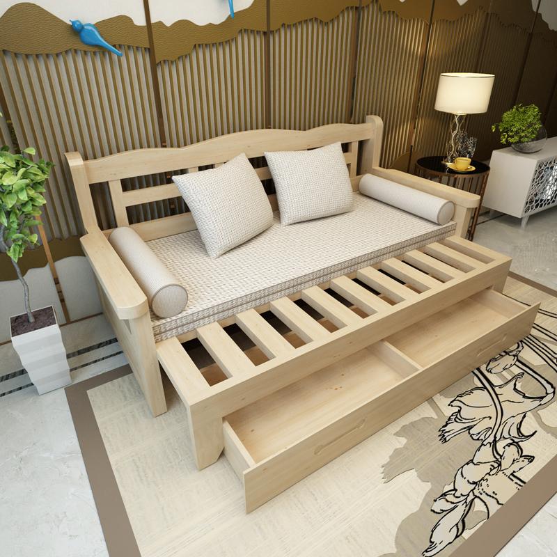 新型木造ソファベッド貧乏な客間書房折りたたみツイラ保存両用ソファベッド1 . 5メートルの1 . 8メートル