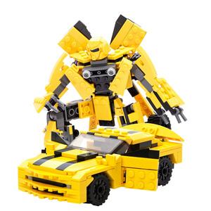 古迪积木男孩子拼插组合变形汽车机器人大黄蜂金刚儿童6-10岁玩具