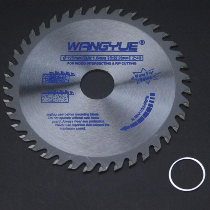 Disco duro de cortar la pieza angular de 5 pulgadas y 125 mm de oro de carburo de tungsteno, paquetes de 邮片 cortar madera Wang más delgada