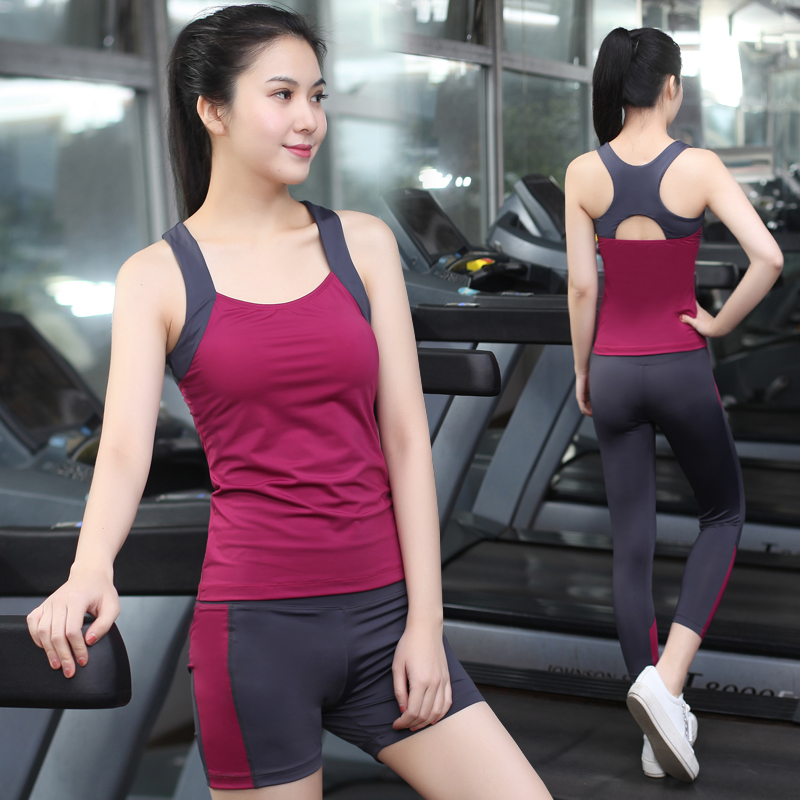Pu Ti Yoga suits summer female gym tunic vest quick drying pants running thin yoga clothes