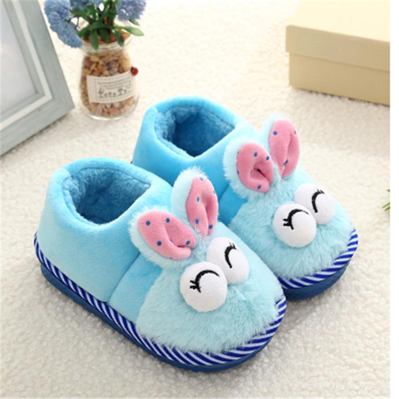 儿童棉拖鞋男童女童秋冬季新款包跟棉拖鞋居家卡通保暖宝宝毛毛鞋