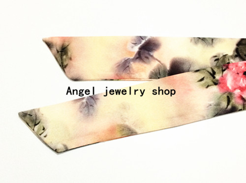 17 high-end brand DG ink painting imitation satin silk scarf with Headband Tiara scarves
