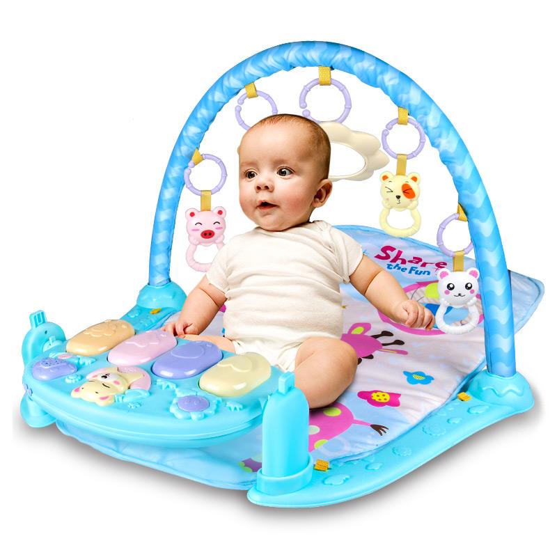 Baby Toys 0-1 Pedál Zongora Fitness Keret Újszülött Baba Korai Tanulás Zene Játékok 3-6-12 hónap