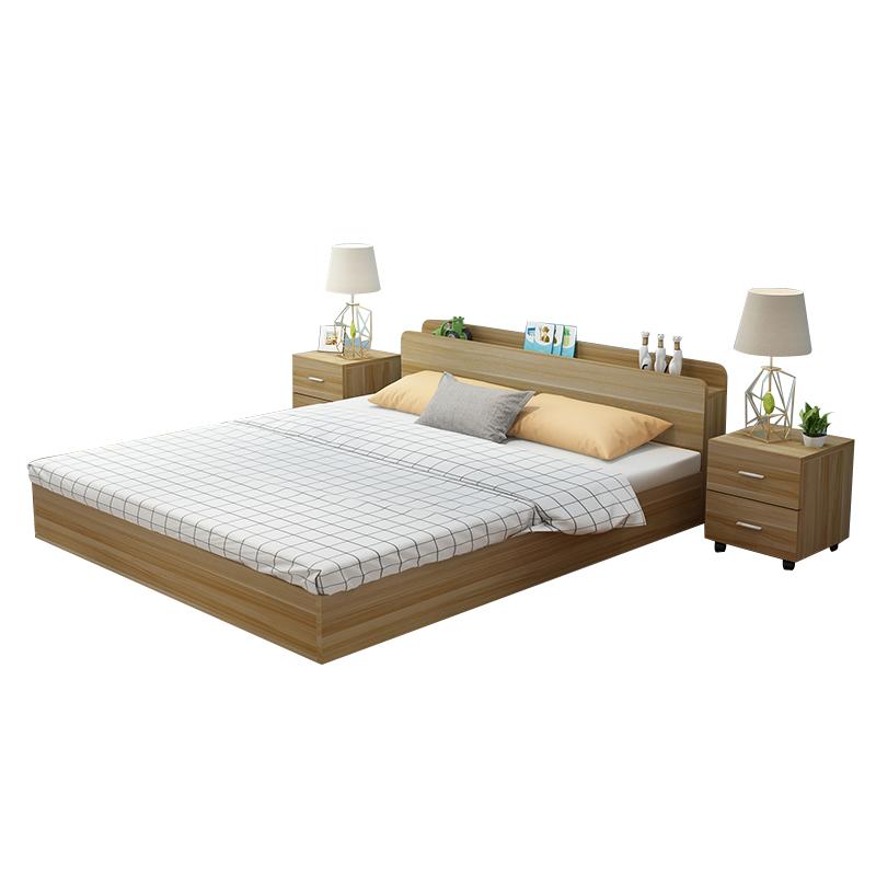 Korean Japanese type bed wood particle bed tatami bed 1.5 meters 1.8 meters of modern minimalist double bed
