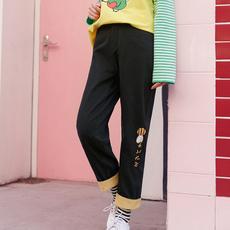 Quần/Quần ngố nữ thụng màu đen cạp cao phong cách Nhật Bản kiểu dáng rộng rãi phù hợp cho mùa xuân mẫu mới nhất
