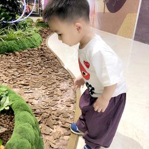 儿童防蚊裤男童 春季 薄款 人造棉中小童小孩3-5-7岁防蚊长裤