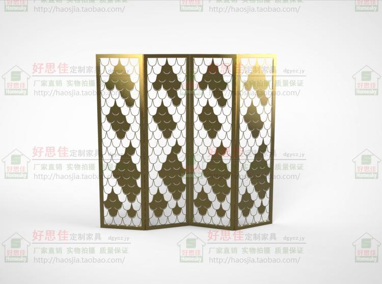 Rabatt - Edelstahl champagner - Gold bildschirm partition blumen Fenster maßgeschneiderte fischschuppen - falten - 8011 - Tür.