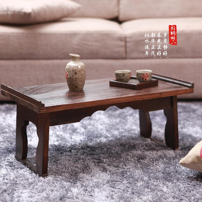 Small tea table table wood windows and tatami bed folding desk computer desk Japanese few Kang Kang Table