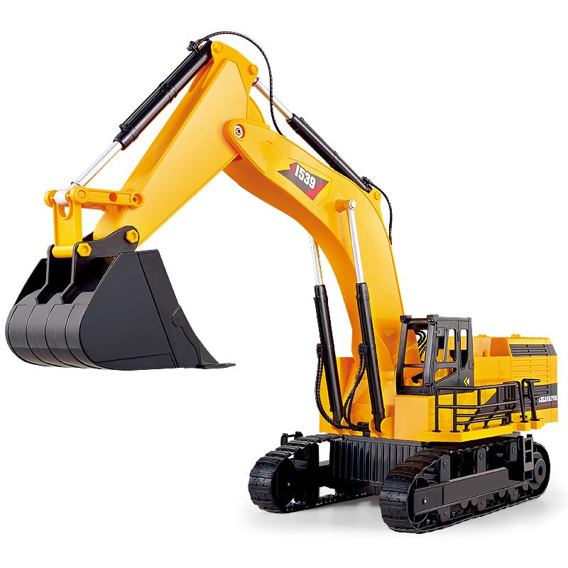 Mika begrüßt die elektrischen fernbedienung - fahrzeug - Bagger aufgeladen 1539A Bagger spielzeug - auto